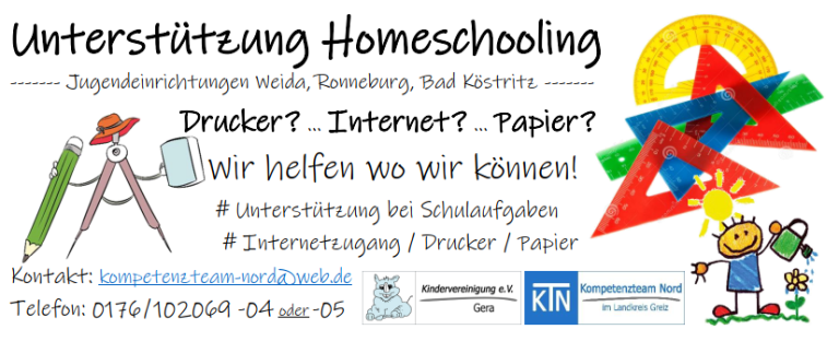 Homeschooling-Angebot in den Jugendclubs